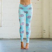 Nefes gymwear Yoga Tayt Tayt İnce Kumaş Kirpi Baskı Kaldırma Kalçalar Yoga Dans Pantolon Elastik Spor Salonları Pantolon Giyim Kadınlar 22dw E19