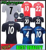 18 19 Camiseta de fútbol del Real Madrid Asensio SERGIO MODRIC RAMOS  MARCELO BALE KROOS ISCO 14fa30494eeea