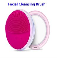 Electric Silica Facial Brushes With LED Mirror Duble Sided S...