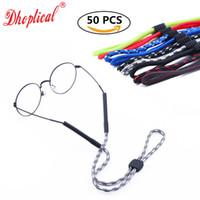 Ücretsiz nakliye, gözlük zinciri, güneş gözlüğü kordon, spor boru kordon 50 adet 9 renk gözlük aksesuarları gözlük mağazası için toptan