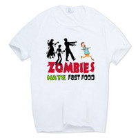 Asian Size Men And Women Print Zombies Hate Fast Food Funny ...