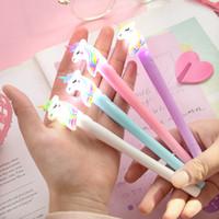 هلام الأقلام 0.5 ملليمتر ضوء الليل rainbow جميل يونيكورن نمذجة الإبداعية الكرتون الكورية الفاخرة القلم طالب هدية لوازم الكتابة