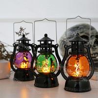 참신 조명 폭풍 랜턴 장식 유령 박쥐 호박 개별 선물 상자 포장 KTV 바 따뜻한 화이트 테이블 램프 DHL