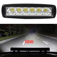 "4PCS 18W 6 ""بوصة مصباح LED السيارات الخفيفة العمل بار الفيضانات لتعليم قيادة السيارات الضباب الطرق الوعرة SUV 4WD"