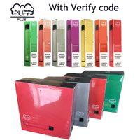 Im Lager Puff Plus-Wegwerf-E-Zigaretten Vape Pen Starter Kit Prefilled 3,2 ml Pod Carts 550mAh Batterie Puffplus Gerät Puff Bar Pods
