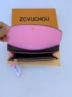 2019 tasarımcı marka kadın bayan uzun cüzdan çok renkli tasarımcı bozuk para cüzdanı Kart sahibinin orijinal kutu kadınlara klasik fermuar cebi cüzdan