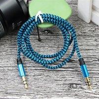 Nylon Jack AUX Kabel 1,5 m 3m 3m 3m 3,5 bis 3,5 mm Audiokabel Männliche Tos Männliche Kabel Gold Plug Car Auxs Cord
