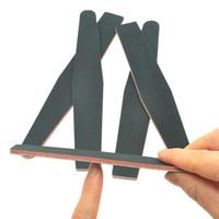 Meisha 30 Stücke 100/180 Körnung Nagelfeile Nail art Salon Werkzeuge Schwarz Sand Streifen Poliert Doppelseitige Maniküre Pediküre Werkzeug HE0014
