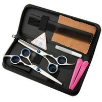 6 pouces d'amincissement d'amincissement de coiffure ciseaux de coiffure de coiffure en acier inoxydable coiffure cisailles de ciseaux de dents plates régulières lames d'usine