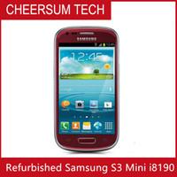 """I8190 оригинальный Samsung Galaxy S3 мини - телефон двухъядерный 4.0 """" сенсорный 5MP камера 8GB ROM 3G WIFI GPS разблокирован отремонтированный мобильный телефон"""