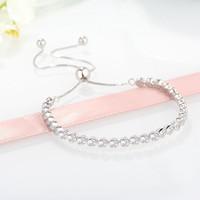 bracelet de diamants CZ sauvages personnalisés pour Pandora 925 Fête du Printemps avec les dames de la mode boîte originale bracelet télescopique