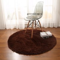Brown Round Carpet Popular Style Soft Carpet Non-slip Adult Children Rug Tables And Chairs Mat Skid Resistance