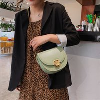 Simple Ins Poplar Pu Leather Shoulder Bag Women Bright Candy...