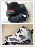 finest selection b5ebb d2a99 Nuevo 6 Negro Infrarrojo rojo FIint hombres zapatos de baloncesto deportes  6 s zapatillas deportivas de