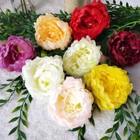 10pcs High Quality Peony Flower Head Artificial Flower Decor...