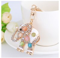 2019 Colorful Cute Elephant Luxury Keychain Key Chain & Key ...