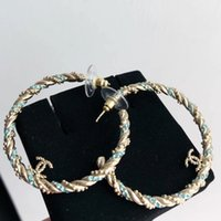 Top brass Brand name hoop Earring luxury quality 18K Gold pl...