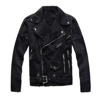 Benzersiz Erkek Tasarımcı Siyah Denim Ceket Daha Fermuar Moda Slim Fit Streetwear Biker Motosiklet Epaulet Kot Ceket Coat Ripped 425