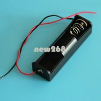 Freeshipping 100 stks in Lot HOLD One 1 x 18650 Batterij 3.7V Clip Houder Cell Box Case met lood 1x18650