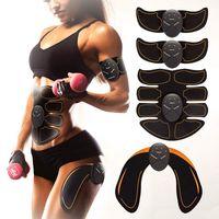 EMS ABS تحفيز تدليك العضلات الكهربائية abdos البطن العضلات مدرب جهاز التنغيم حزام تجريب اللياقة البدنية الجسم للذراع الساق