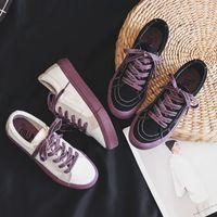 القماش المنخفضة قطع تنفس الأحذية عارضة مسطحة القاع ربيع قماش الأحذية النسائية البيضاء النسخة الكورية من الأحذية السوداء الصغيرة
