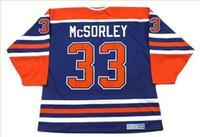 Özel erkekler Gençlik kadınlar Vintage # 33 MARTY McSORLEY Edmonton Oilers 1987 CCM hokeyi Jersey boyutu S-5XL veya özel herhangi bir isim veya numara