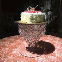 Lindo carrinho de bolo de cristal Bolo Acessório 12 polegada pingentes rotatable bolo fondant ferramenta de exibição de decoração da festa de casamento