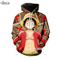 2020 New Style Hommes Anime One Piece Monkey D. Luffy Hommes Femmes 3D Imprimer Couples sauvage Creative manches longues Streetwear hoodies