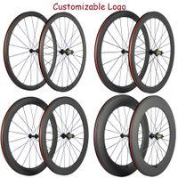 Vendite della fabbrica 38/50 / 60/88 millimetri di superficie basalto freno ruote in carbonio della bici della strada Ruote Con R13 Hub 23 millimetri Ruote