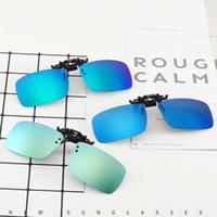Clip Sonnenbrille Polarisiert und UV400 Ordner Brillen Rahmen Spiegellinsen Nachtsicht Flip Up Gläser 3 Größe Großhandel