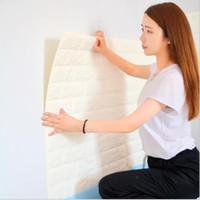3D кирпичная стена стикер гостиная DIY PE пены обои панели комнаты цветок камень украшения тиснением обои плакат