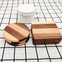 Durable Square Round Bowl Teapot Placemats Decor Home Table Tea Coffee Cup Pad Wood Coasters Heat Resistant ZC2161