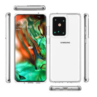 Cleartransparent 1.5mm Akrilik + TPU Telefon Kılıfları Samsung A12 A32 A52 A72 5G A02 A02S A51 A71 4G S20 S21 Artı Ultra Fe Darbeye Mobil Kapak Geri Shell D