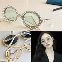 Damesontwerp Zonnebril 0620 ingelegd met sprankelende kristallen diamant kleine ovale frame topkwaliteit UV400 bril mode zonnebril