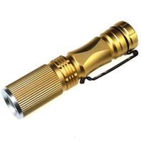 taşınabilir mini CREE XPE Q5 LED 7W Toptan Mini Fener Su geçirmez Ayarlanabilir Odak taktik Yakınlaştırma Spotligh fener Troch Lambası