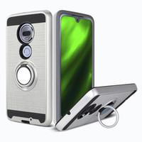 Casos para LG Aristo3 Aristo6 Motorola Moto G7 POWER PC TPU híbrido escovado com anel kickstand capa baixo preço pacotes opp