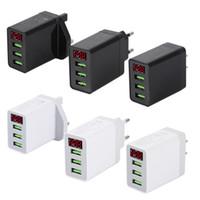 5V LED 3.1A display de 3 portas USB parede Charger UE US UK plug carregador rápido de carregamento para telefone celular móvel