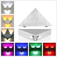 Moderne Led Wandleuchte 3 Watt Aluminium Körper Dreieck Wandleuchte 3D Nacht Für Schlafzimmer Hause Beleuchtung Leuchte Bad Leuchte Wandleuchte 11