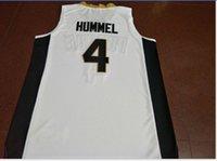 Benutzerdefinierte Männer Jugend Frauen Weinlese # 4 PURDUE ROBBIE HUMMEL Basketball-Jersey-Größe S-6XL oder benutzerdefinierten beliebigen Namen oder Nummer Jersey