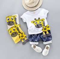 Summer new baby short sleeve suit children' s summer sui...
