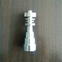 6 Universal-in 1 Domeless Titanium GR2 Nägel 10mm 14mm 18mm Joint Männliche und weibliche Domeless Nailfor Glas Bongs Wasserpfeifen Dab Rigs 01