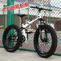 Fábrica Atacado Folding Mountain Bike Singl26 Inch 20 Cross-Country Mountain Bike Neve Praia 27 velocidade Folding 4.0 pneu largo Homens e