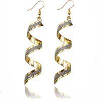 nakliye takı spiral dangle küpe geometri buzlu kadınlar için metal küpe sıcak moda ücretsiz