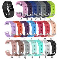 Precio más bajo Correa de silicona para fitbit charge2 banda Fitness pulsera inteligente relojes Reemplazo Bandas de correa deportiva para Fitbit Charge 2