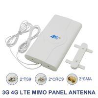 700~2600 МГц 88dbi 3g 4g Lte антенна мобильная антенна 2 * SMA/2 * CRC9/2 * TS9 мужской разъем Bo-oster Mimo панельная антенна+2 метра