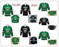 2019 New Arrival Youth # 7 Tj Oshie Dakota North Dakota Combattant Sioux Hockey Jerseys Kids 11 Zach Parise Garçons Fighting Sioux Dakota College Jersesys
