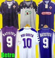 Retro 1992 93 1998 1999 2000 Fiorentina Futbol Formaları 98 99 Fiorentina Maillot Batistuta Rui Kosta Vintage Ev Futbol Gömlek Camisas