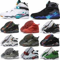 2019 South Beach Blanc Aqua Raid Red 8 VII 8s hommes Chaussures de basket Chrome jour COUNTDOWN Saint-Valentin PACK les hommes Sports de plein air Sneakers 8