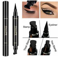 Cmaadu Liquid Eye Liner Макияж Водонепроницаемый черный двухсторонними макияжа Тени для век Stamp Eyeliner Карандаш для глаз Косметика хорошее качество