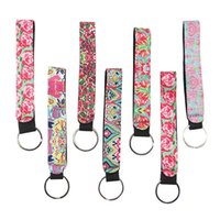 Lilly Pulitzer Key buckle Neoprene Bag Charmer Keychain Sublimation Keyring Wedding Favors Gift Multi Color High Quality ZHL3892